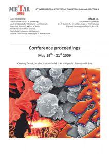 Conference Proceedings                     - METAL 2009