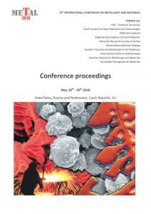 Conference Proceedings                     - METAL 2010