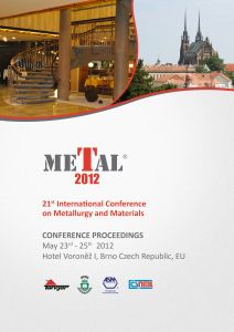 Conference Proceedings                     - METAL 2012