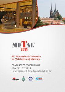 Conference Proceedings                     - METAL 2014