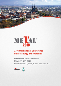 Conference Proceedings                     - METAL 2018