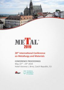 Conference Proceedings                     - METAL 2019