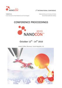 Conference Proceedings                     - NANOCON 2010